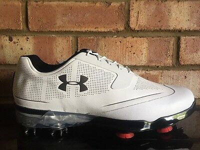 Under Armour TOUR Tips Mens Golf Shoes WHITE & Black UK 9 Clearance 1288575