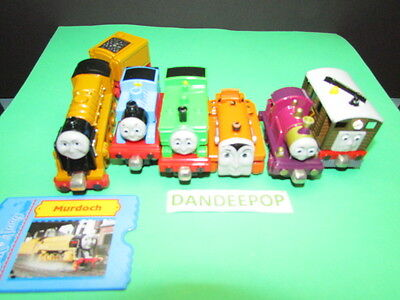 Thomas The Tank Engine Take Along Diecast 7 piece with Murdoch, Lady Terrance ++