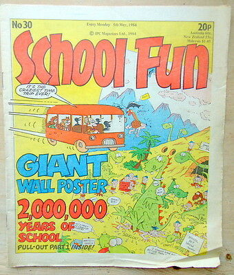 SCHOOL FUN Comic - No 30 - Date 05/05/1984 - UK Paper comic FREE UK P/P