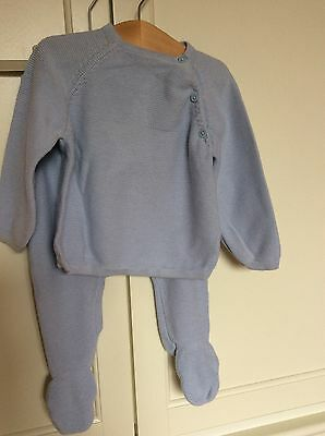 Mamas And Papas Baby Boy Knitted Outfit 9-12 Months