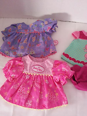 baby alive retired outfits lot 3 dress / cloth pink diaper