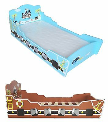 Bebe Style Childrens Pirate Ship / Boat Wooden Junior Bed NEW Childs Kids Cotbed
