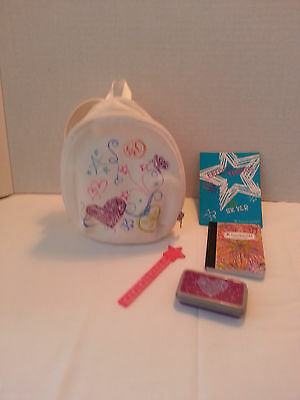 American girl ag authentic - doll julie school bag & supplies