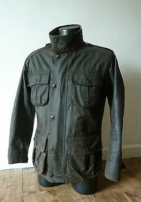 "Superb Barbour Wax "" Trooper  "" Military Jacket - Sml - Bond Commander  - £225"