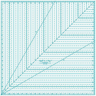 """Quilt In A Day Square Up Ruler-22""""X22"""" 2028"""