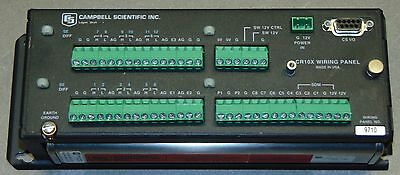Campbell Scientific CR10X Wiring Panel with extended Memory Temp Quantity Avlbl