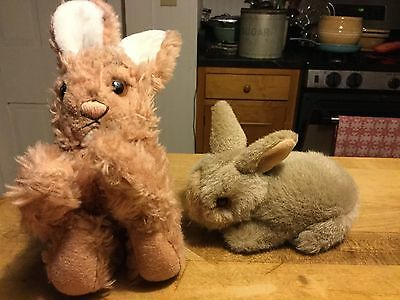 Two Vintage Steiff Plush Easter Bunny Rabbits No Id Sweet