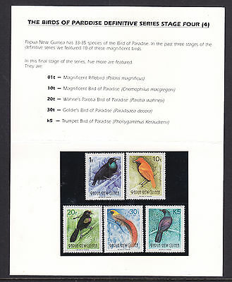 Png: 1993  Birds Of Paradise 4Th Series  Asc 671-75   Superb  ***muh***