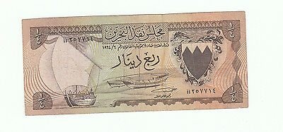 1964 BAHRAIN currency Board first issue Quarter Dinar Banknote