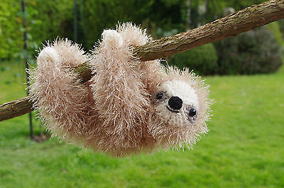 Easy Sloth Knitting Pattern King Cole Tinsel Chunky Yarn Children Toy Baby Gift