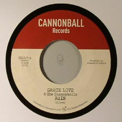 "LOVE, Grace/THE CANNONBALLS/BELL SOUND STUDIOS INC - Rain - Vinyl (7"")"
