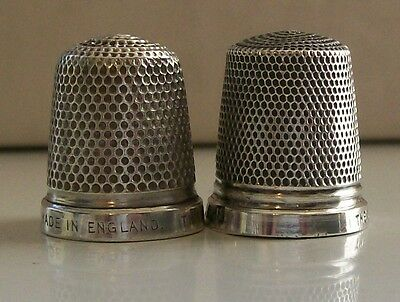 2 Henry Griffiths & Sons Silver Thimbles: 1x Birmingham 1931, 1x The Spa