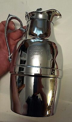 "Canadian  ""canadian National Railway"" Thermos Chrome Cold Water Pitcher"