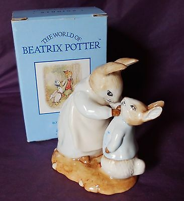 "Beswick Beatrix Potter ""MRS RABBIT AND PETER"" RARE BOXED BP10"