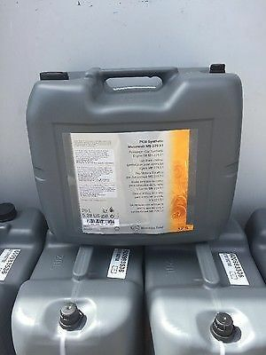 20 L Genuine Mercedes Benz 5W30 Low Ash SAPS Engine Oil MB229.51 Fully Synthetic