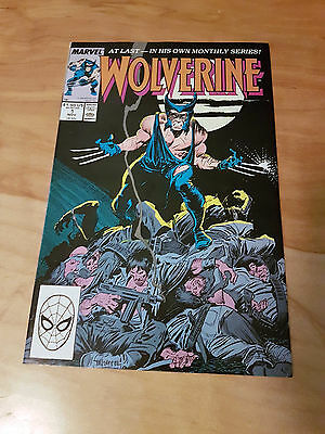 Wolverine #1, 1988 First Ongoing Series, Chris Claremont, 1st Patch, NM