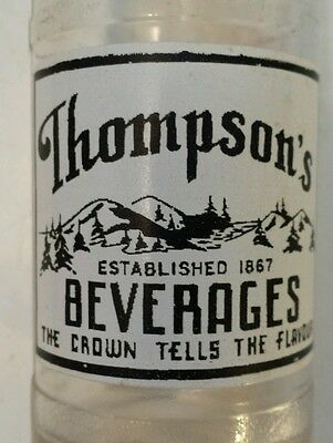 "Rare Canadian (Kingston, Ont) ""thompson's Beverages""10 Oz  Embossed-Blue & White"