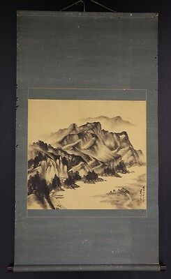 JAPANESE HANGING SCROLL ART Painting Scenery Asian antique  #E5843