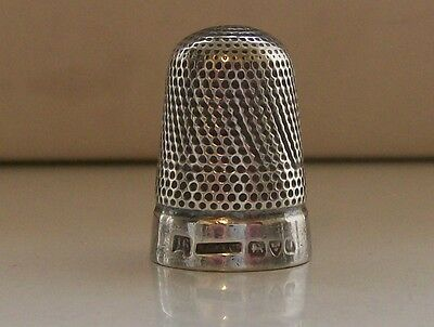 Henry Griffiths & Sons Ltd Solid Silver Thimble Hallmarked Chester