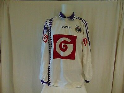 Maillot Foot Shirt Anderlecht Porte  N°7 Match Worn Ancien