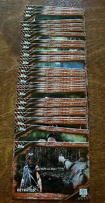 (69-card) 2017 Topps Walking Dead Season 6 RUST Parallel card LOT All Different!