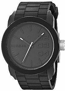 Diesel DZ1437 Black Stainless Steel Watch with Silicone Band
