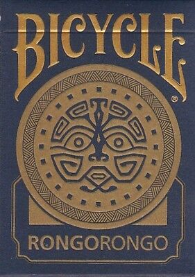 Bicycle playing cards - Rongo Rongo (Gilded Edition) RARE