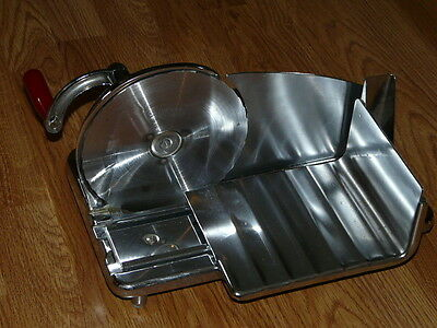 Vintage Chrome National Food Slicer - Meat - Cheese Hand Crank