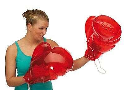 2 x Giant Inflatable Blow Up Boxing Gloves RED colour, outdoor BBQ fun 91/4129