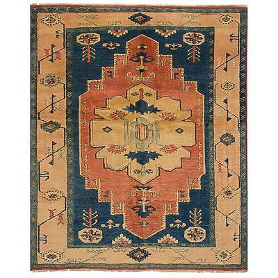 "Lovely Vintage Turkish Shiravan Rug - 5'8"" x 7'3"""