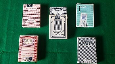 5 decks of cards from Las Vegas casino's. Game used.