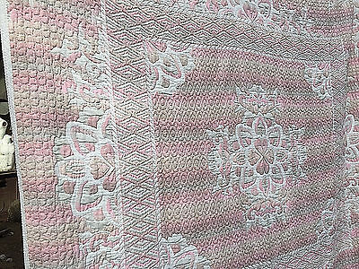 Antique/vintage Massive Unusual Patchwork Style Quilt L-97 Inches By W-95 Inches