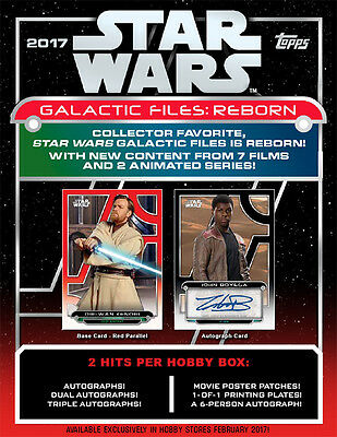 2017 Topps Star Wars Galactic Files Reborn Hobby 12-Box Case