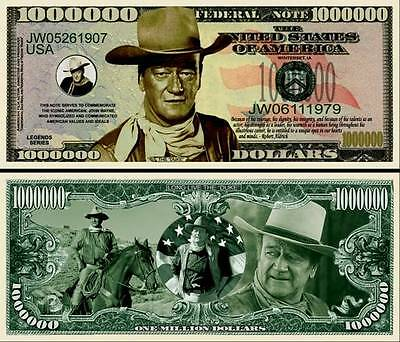 John Wayne New-Style Million Dollar Bill Collectible Fake Play Funny Money Note