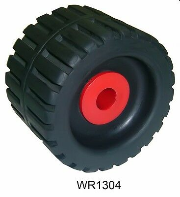 """2 Pack 4"""" 3/8 Inch X 3"""" Inch Wide Ribbed Wobble Roller Boat Trailer MULTIFLEX"""