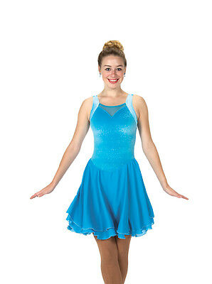 New Jerrys Skating Ice Dance Dress 136 Sky Blue Made on Order Youth & Adult