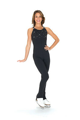 New Jerrys Skating Dress Catsuit Unitard 296 Crystal Made on Order Youth Adult