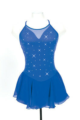 New Jerrys Competition Skating Dress 142 Mirror Royal Made on Order