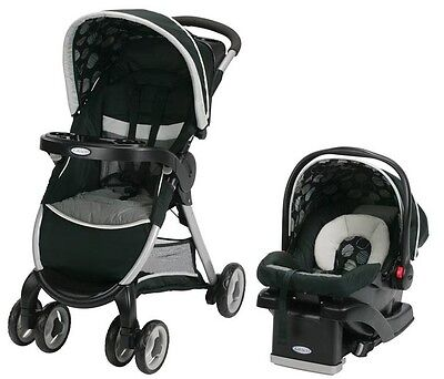 NEW Graco FastAction Fold Click Connect Travel System - Milan