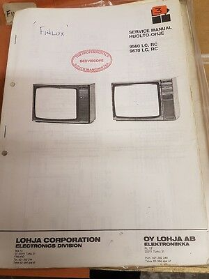 finlux 9560 and 9670  service manual