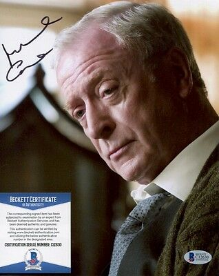 Michael Caine signed autographed Dark Knight 8x10 Photo Beckett BAS