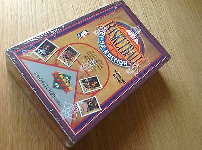 UNOPENED BOX NBA Upper Deck 1991-2 BASKETBALL TRADING CARDS Jordan Sealed!