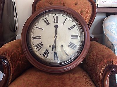1910/20s Large Brass and Mahogany School/Railway Clock? Possibly American