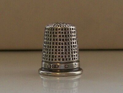Antique Solid Silver Thimble by Charles Horner Hallmarked Chester 1909