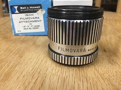 "Vintage Bell & Howell Filmovara 16mm Lens Attachment for 1.5"" - 2"" - 3"" Lenses"