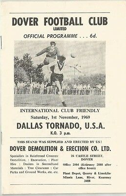 DOVER v DALLAS TORNADO  1969/70   Friendly Match