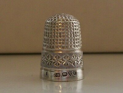 Charles Horner Antique Silver Thimble Hallmarked Chester 1911
