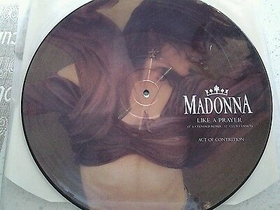 "Madonna Like a Prayer 12"" picture disc"