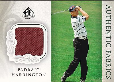 2004 SP Signature Authentic Fabrics. Padraig Harrington Shirt Card