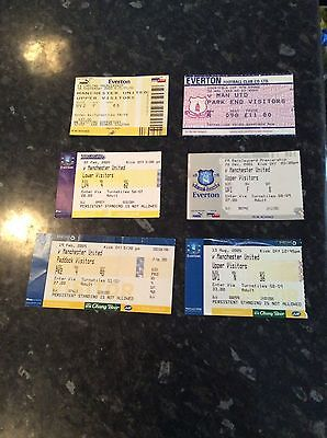 6 X Manchester United Away Tickets - At Everton